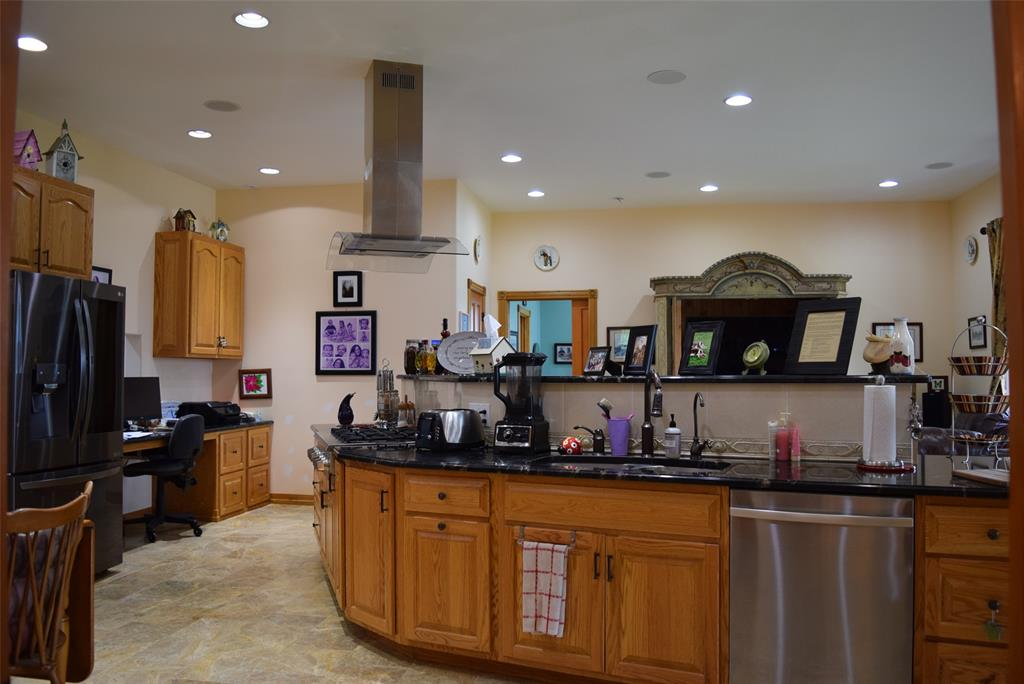 Tons of counter space and a perfect flow for entertaining!