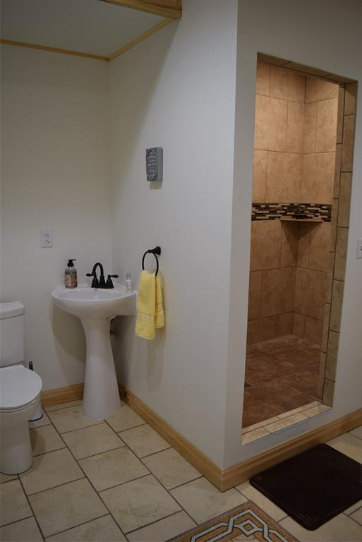 View 2 - Walk in tiled shower!